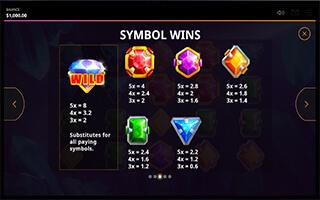 Great Gems Slot symbols
