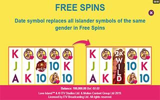 Love Island Slot free spins