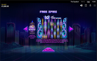 The Equalizer Slot free spins
