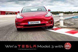 Big Time Gaming gives away a Tesla Model 3