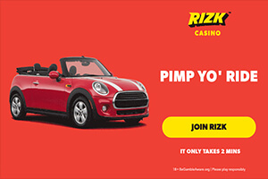 Win Mini Cooper Cabrio worth €25K and Other Prizes at Rizk Casino