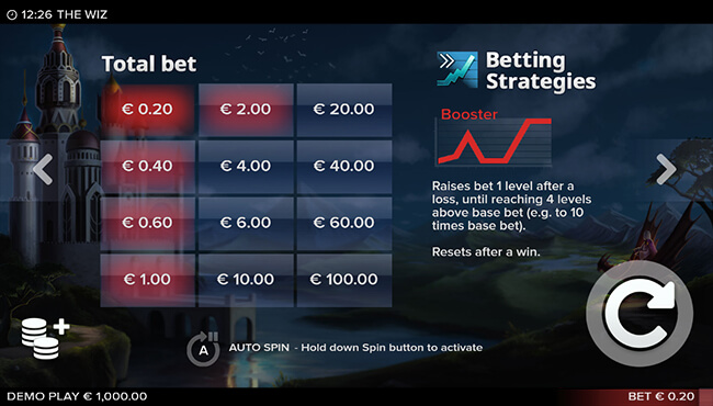 Booster Betting Strategy