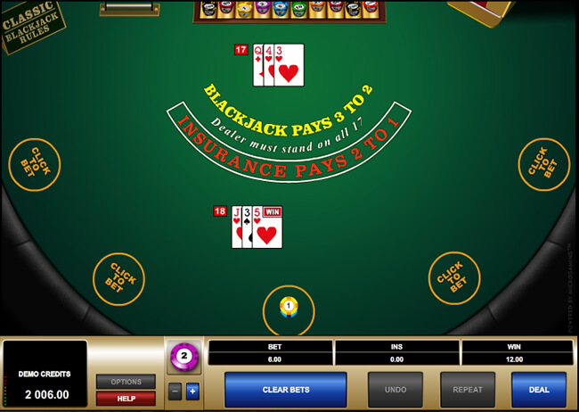 You can win at Blackjack with a hand worth less than 21