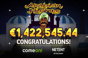 NetEnt Arabian Nights Slot Makes Another Millionaire