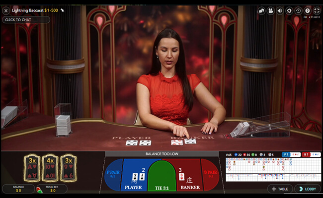 Lightning Baccarat Rules and Gameplay