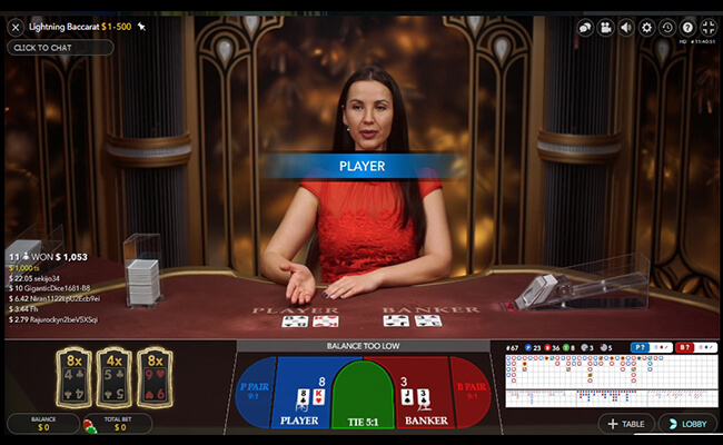 Lightning Baccarat How to Win