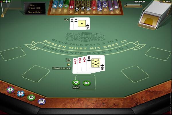 Spanish 21 Blackjack rules and gameplay
