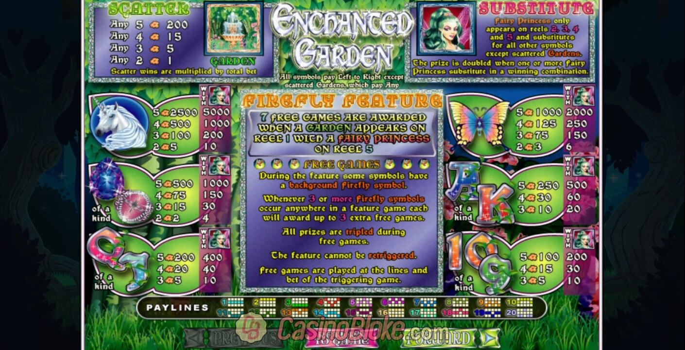 Enchanted Garden Slot Screenshots