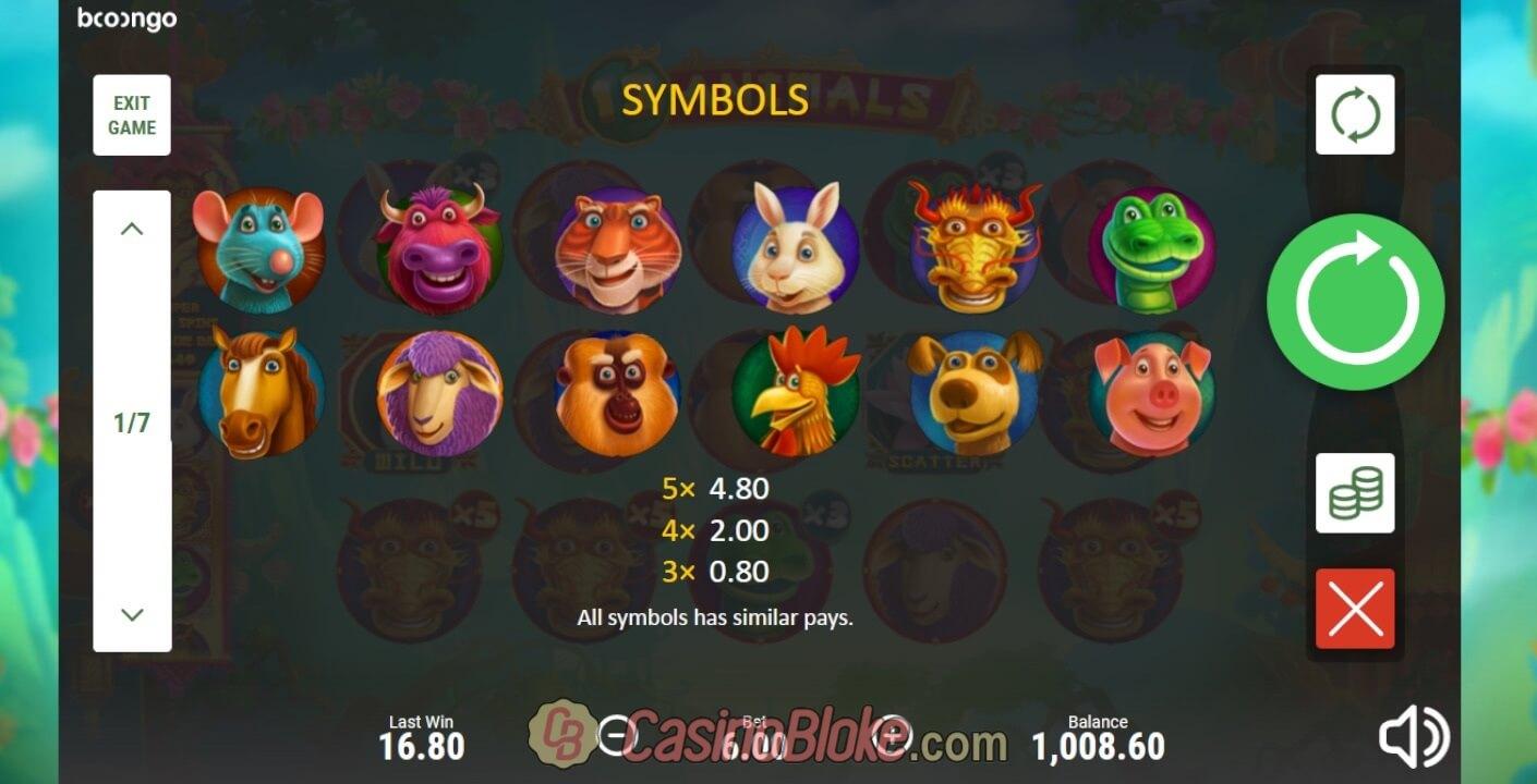 Bingo demo 12 animals slot machine online booongo accounts igre racing