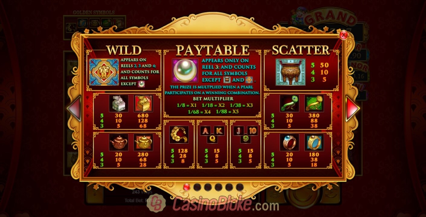 Plentiful Treasure Slot Screenshots