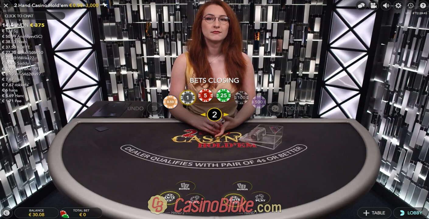 Live 2 Hand Casino Hold'em thumbnail - 0
