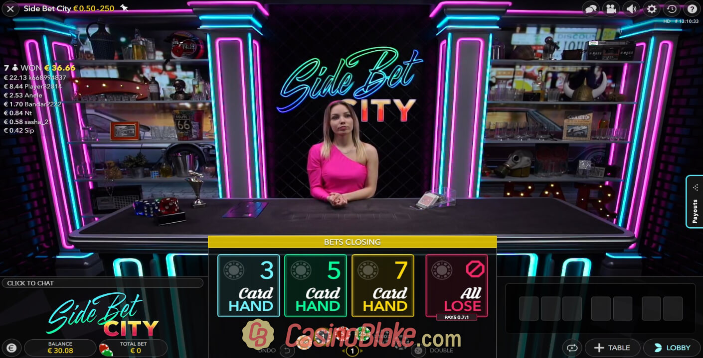 Evolution Live Poker Side Bet City thumbnail - 0