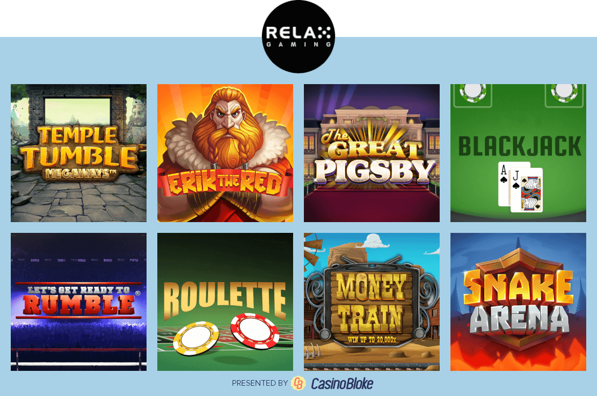 Relax Gaming Games Selection