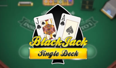 Single Deck Blackjack Logo Big
