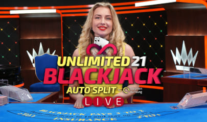 Unlimited Blackjack 21 Logo Big