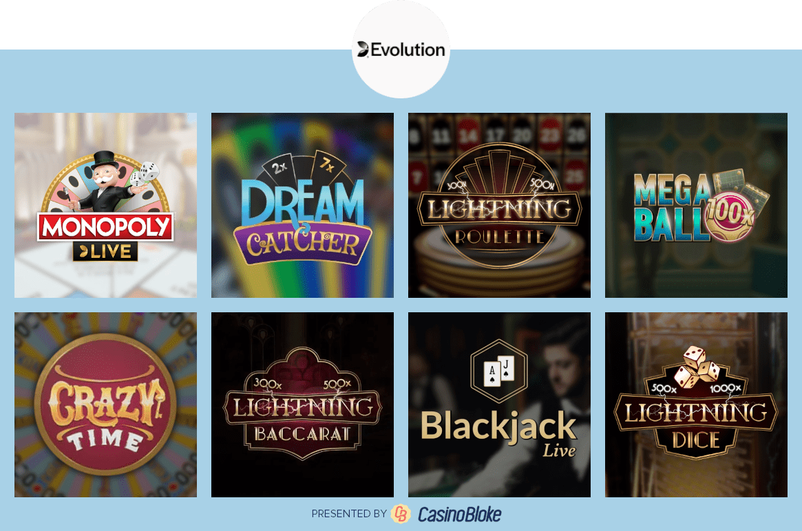 Evolution Games Selection