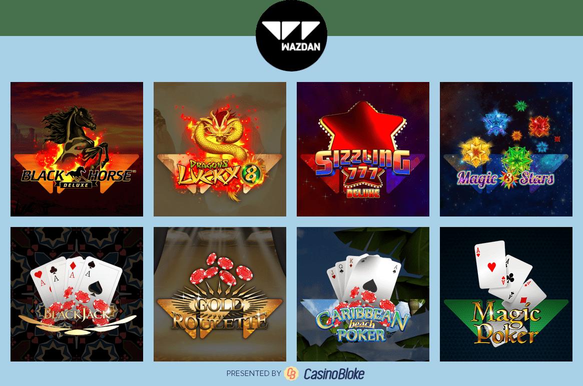 Wazdan Games Selection