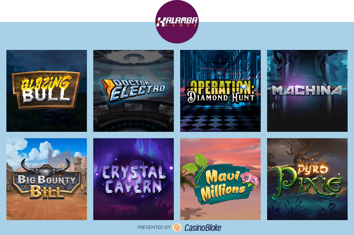 Kalamba Games slots selection
