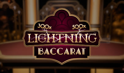 Evolution Live Lightning Baccarat logo big