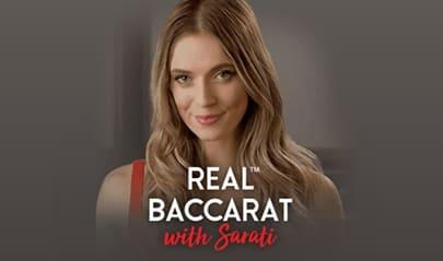 Real Baccarat with Sarati logo big
