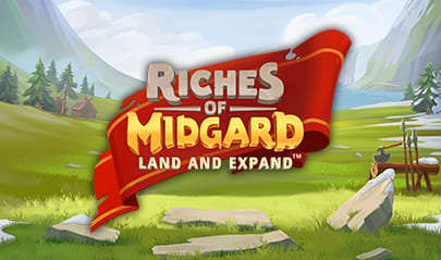 Riches of Midgard Land and Expand logo big