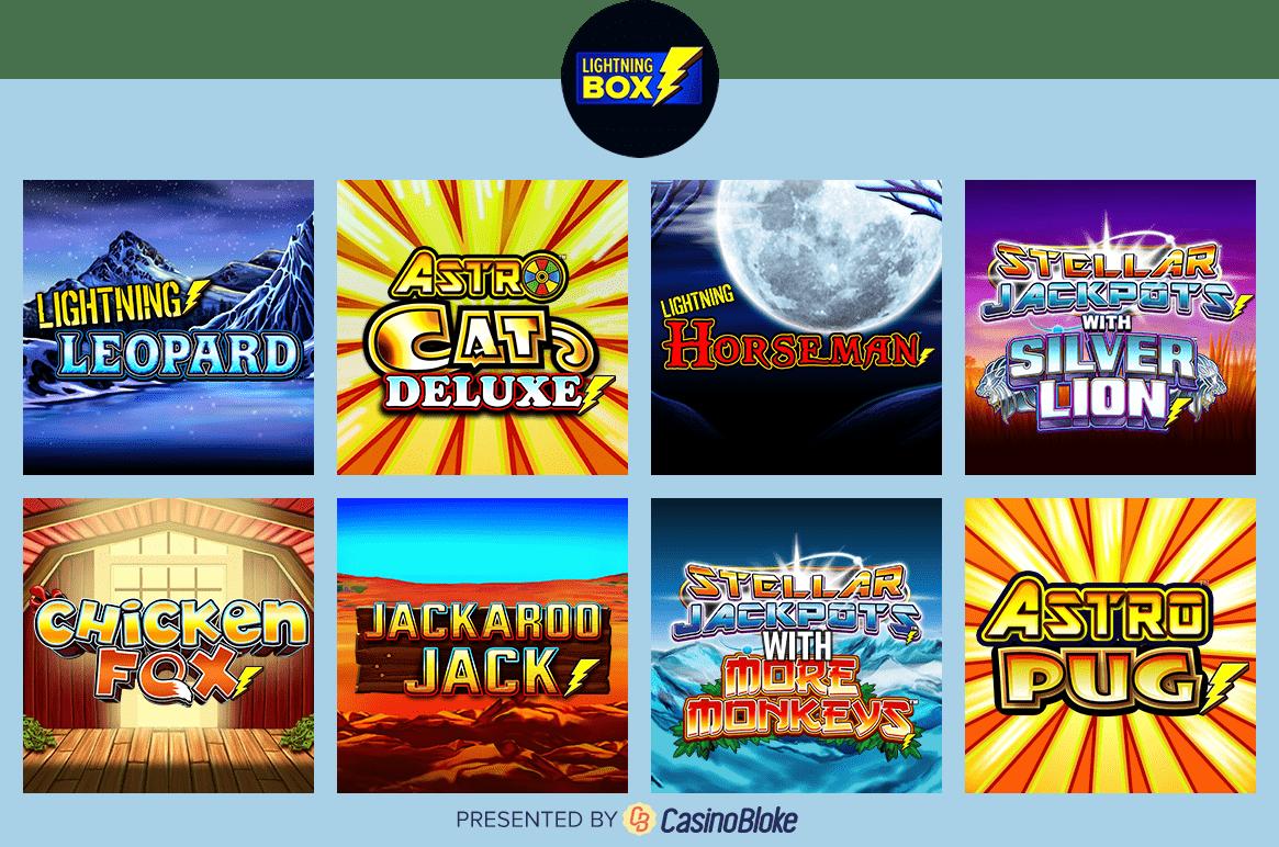 Lightning Box games selection