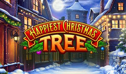 Happiest Christmas Tree Slot logo big