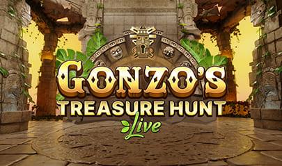 Gonzo's Treasure Hunt Live logo big