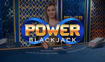 Evolution Live Power Blackjack logo big
