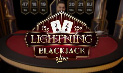 Evolution Lightning Blackjack Live logo big