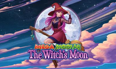 Mega Moolah The Witch's Moon logo big